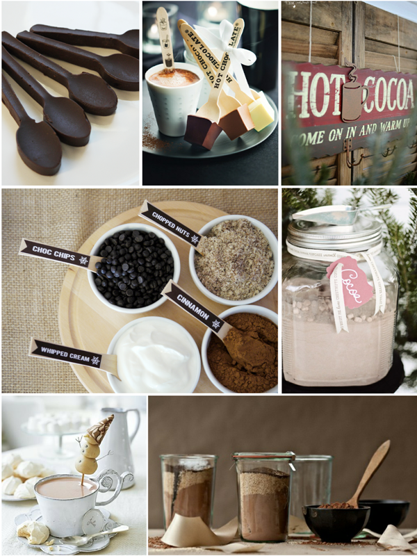 Hot Cocoa Bar Ideas and Party Recipes - via BirdsParty.com