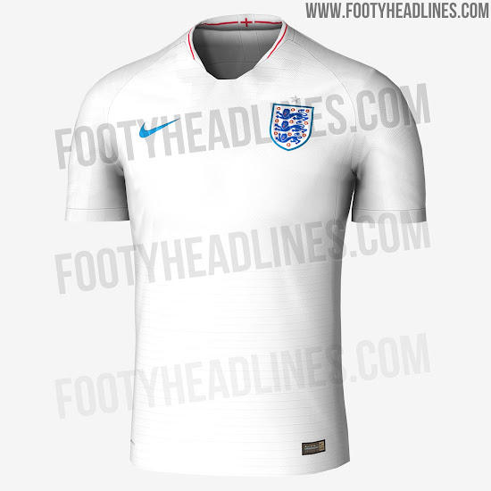 1b8079eda England 2018 World Cup Home   Away Kits Leaked - Footy Headlines