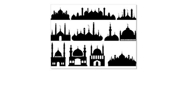 Contoh Kumpulan Vector Siluet Masjid Contoh Design Spanduk