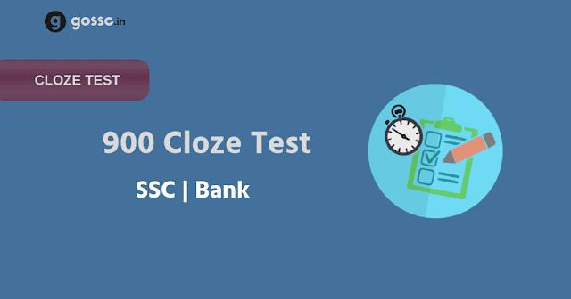 Cloze Test SSC, Bank