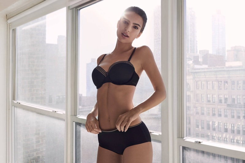 Emily Ratajkowski stars in DKNY Intimates' fall-winter 2017 campaign