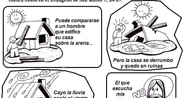 Clasedereli Parábola De La Casa Sobre La Roca