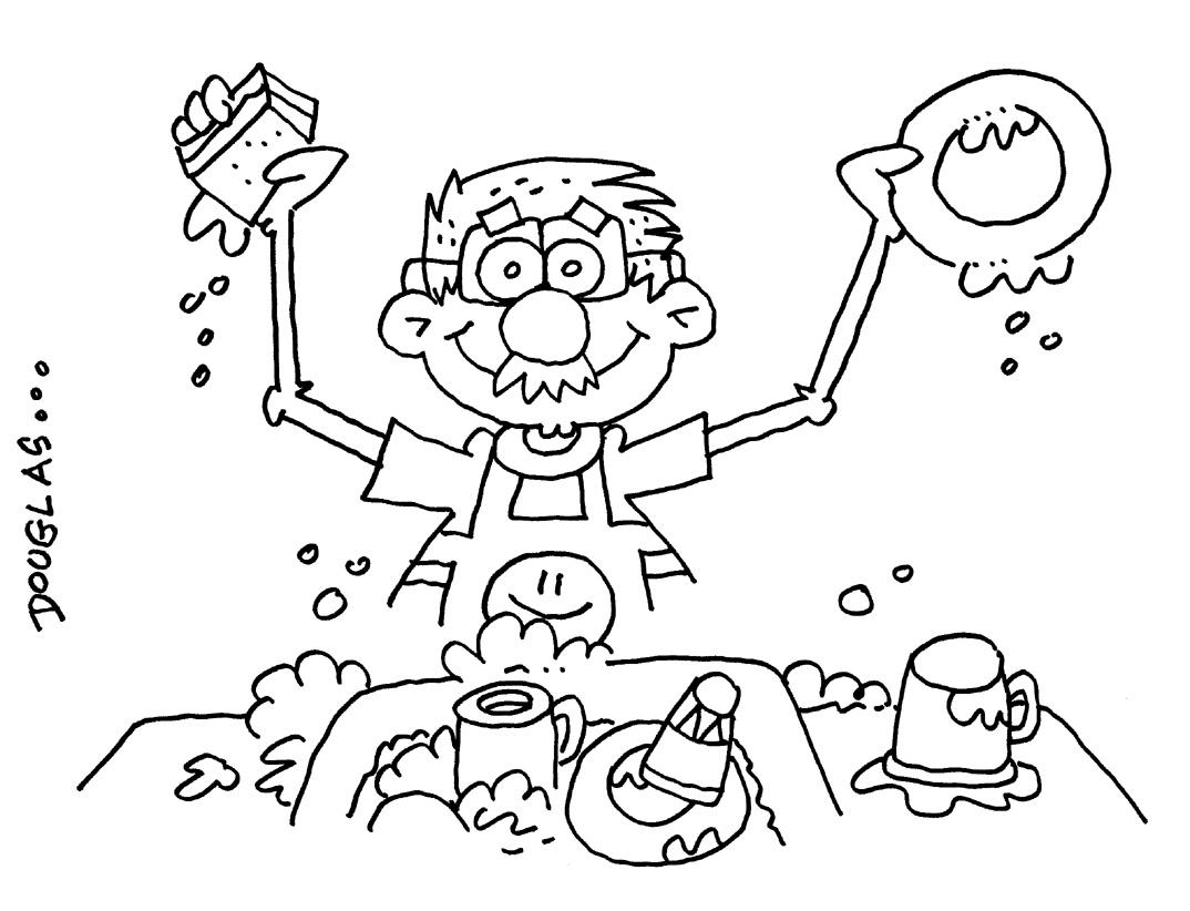 Dibujo De Una Niña Lavando Platos Imagui