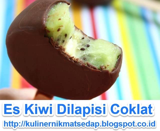 Es Kiwi Dilapisi Coklat