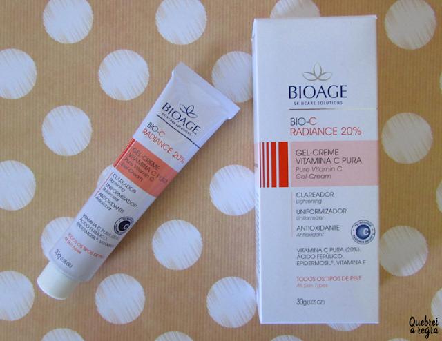 Bio-C Radiance 20%, o gel creme com vitamina C pura da Bioage