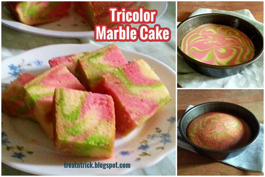 Treat trick tricolor marble cake recipe tricolor marble cake recipe treatntrickspot forumfinder Gallery