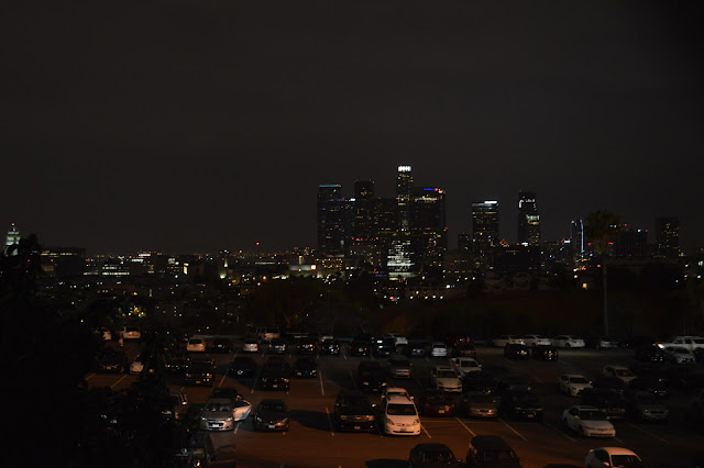 Night time view of Los Angeles LA