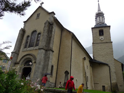 8月15日に山岳ガイド祭が行われるサン・ミッシェル教会