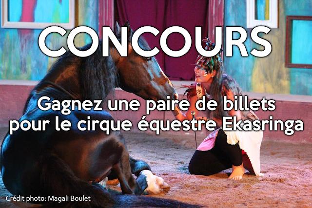 cirque équestre Ekasringa Baie-St-Paul chevaux