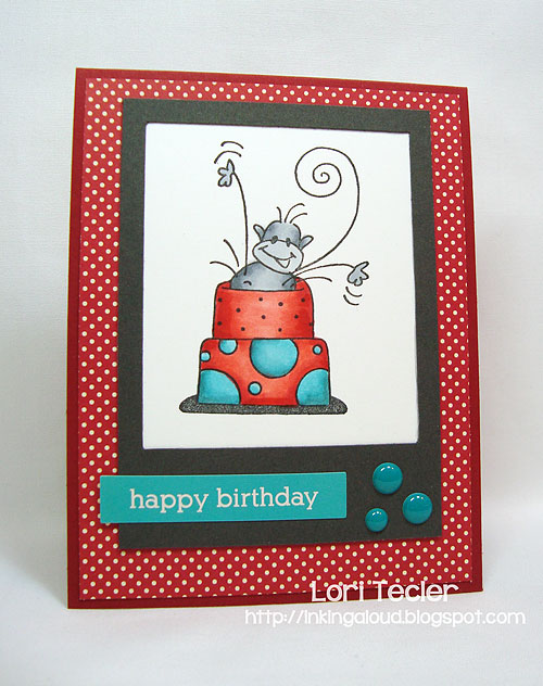 Happy Birthday-designed by Lori Tecler-Inking Aloud-stamps from Stampendous