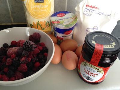Tarta Pavlova, ingredientes