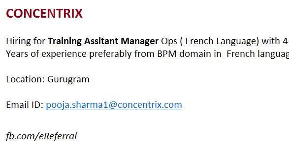 Employee Referral Program: Concentrix