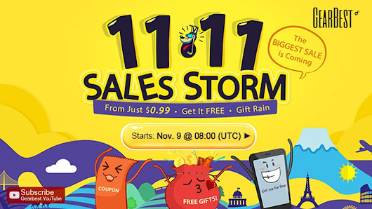 [Gearbest] - 11.11 Sales Storm featuring numerous discounts, coupons and free gifts