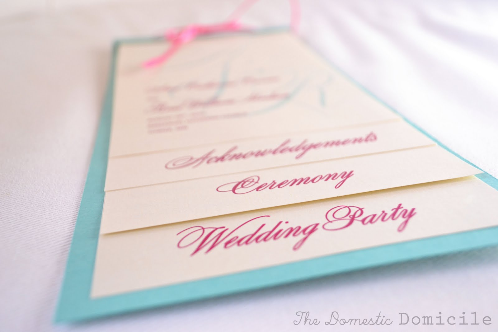 DIY Wedding Revisited: Program Templates |The Domestic Domicile