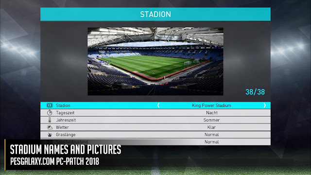 Patch PES 2018 terbaru dari PES Galaxy V0.5