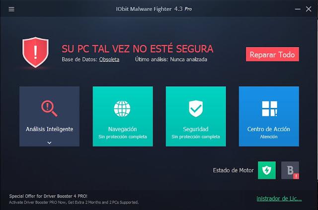IObit Malware Fighter PRO 4.3.1 en Español