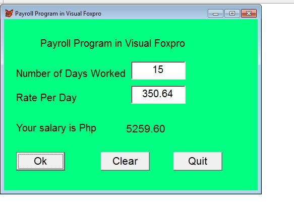 Free Programming Source Codes To All: Payroll Program in