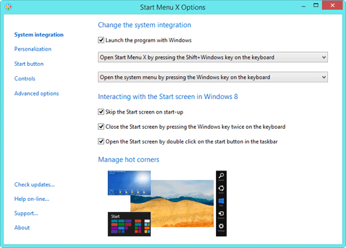 start menu x pro key