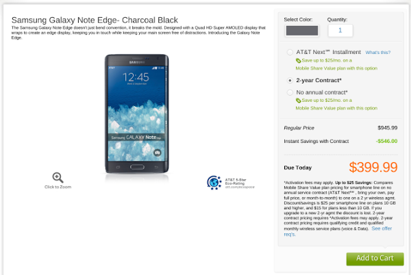 Samsung Galaxy Note Edge for AT&T