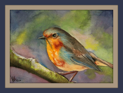 european bluebird pastel 5x7 ncwren