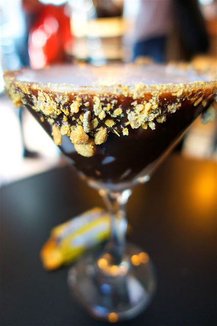 Butterfinger Martini at Jen's and Friends Bar in Savannah Georgia - they have over 300 flavors to choose from!
