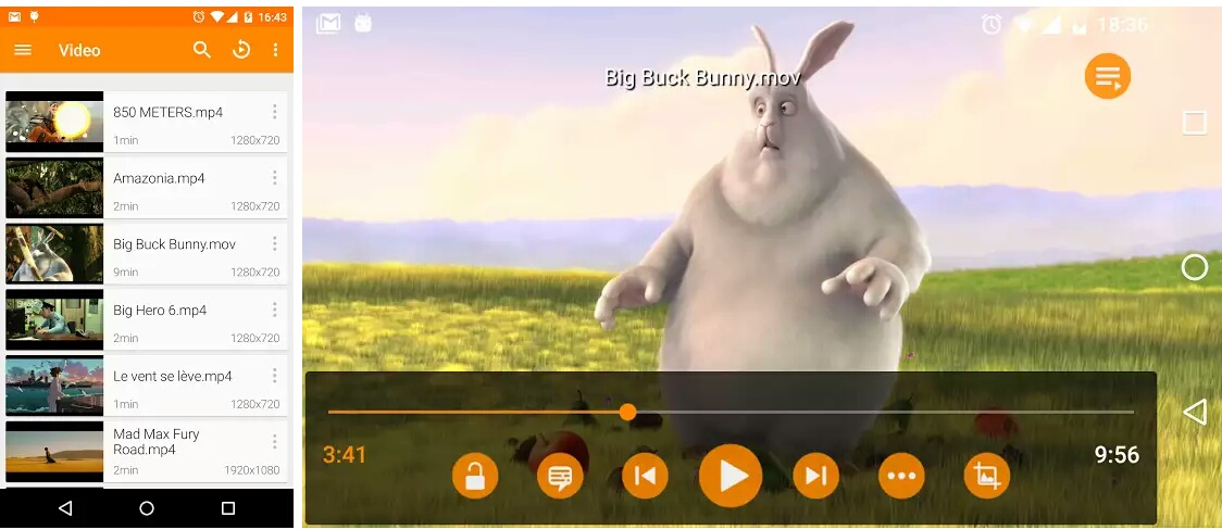audio video player for android free download