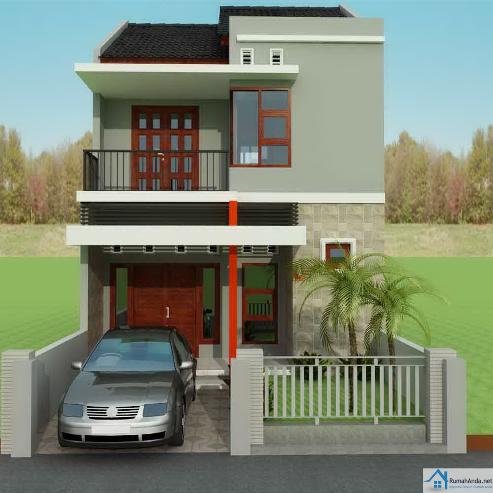 Desain rumah 2 lantai type 36 luas tanah 60 di Perumahan