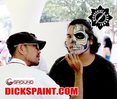 face painting jakarta skeleton