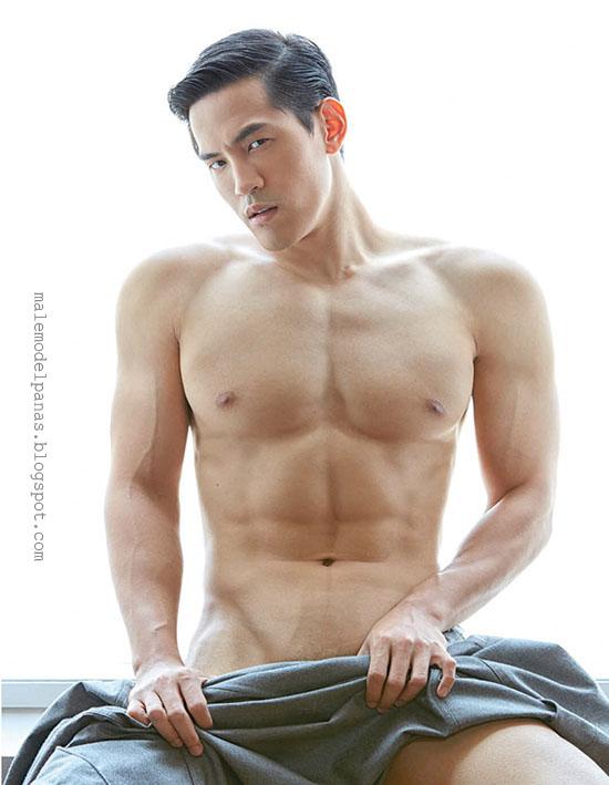 thailand shirtless guy aun warit for attitude magazine
