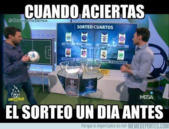 Los memes del sorteo de cuartos de champions league 2016 for Cuartos de final champions