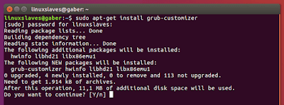 Installing Grub Optimizer Ubuntu