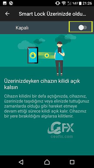 akıllı telefon Smart Lock aktif etme - www.ceofix.com