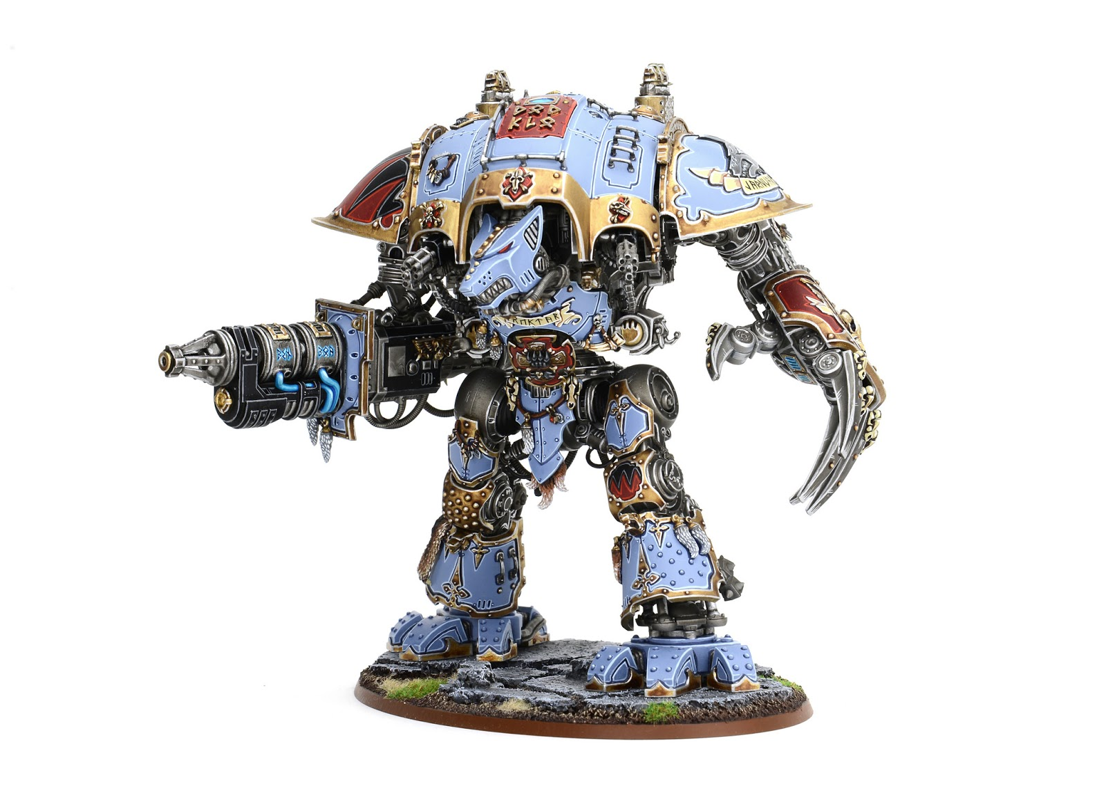 Colors That Go With Light Gray Showcase Space Wolves Themed Imperial Knight By