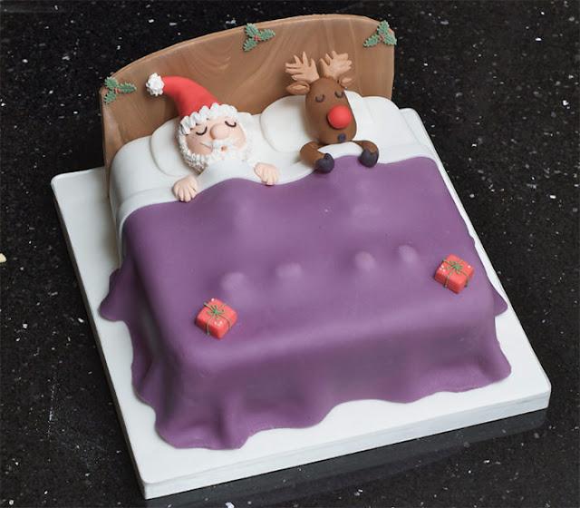 Santa and Rudolph cake