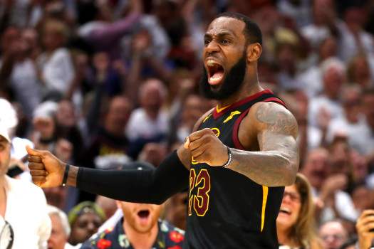 Lebron James flirted with a triple-double as The King and his Cavaliers eliminated the Boston Celtics