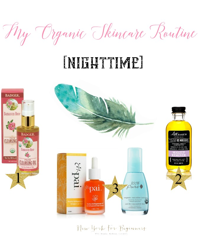 organic nontoxic vegan skincare for dry skin night