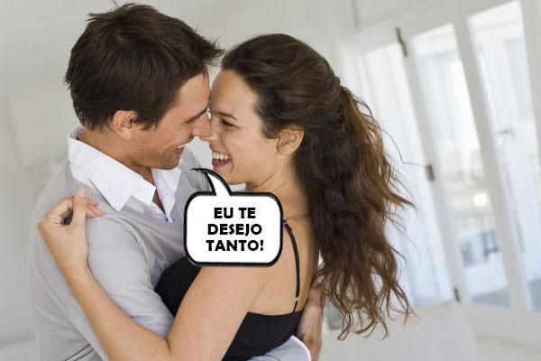 Marido dizendo para a esposa que o deseja