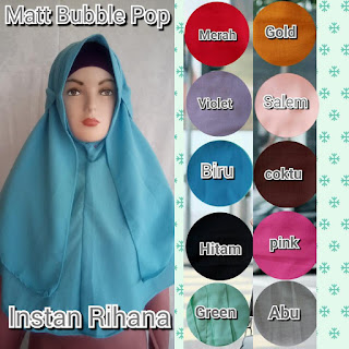 Instan rihana bahan bubble pop terbaru