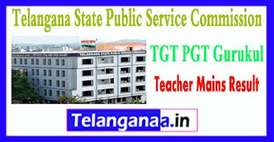 TSPSC TGT PGT Gurukul Teacher Mains Answer Key