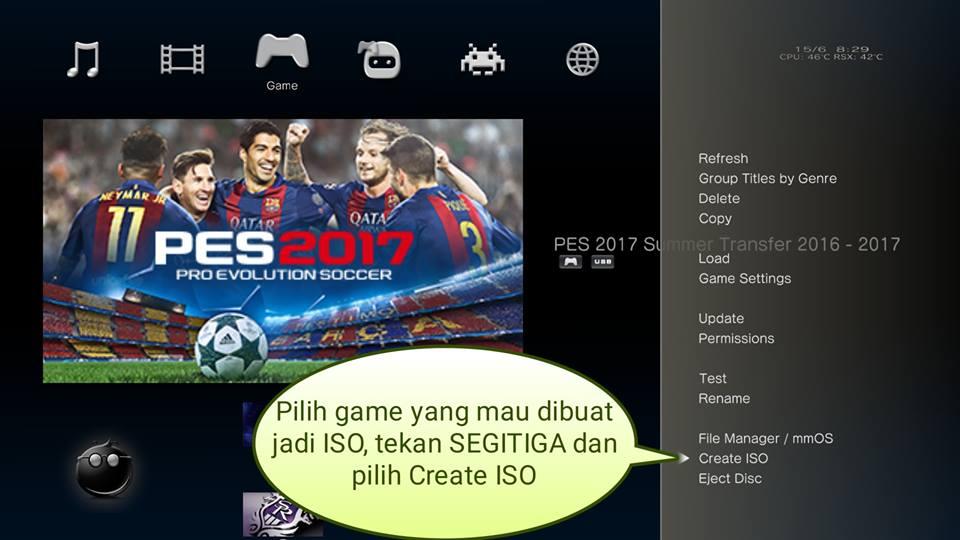 Cara membuat game ISO PS3 CFW tanpa software untuk PS3 online