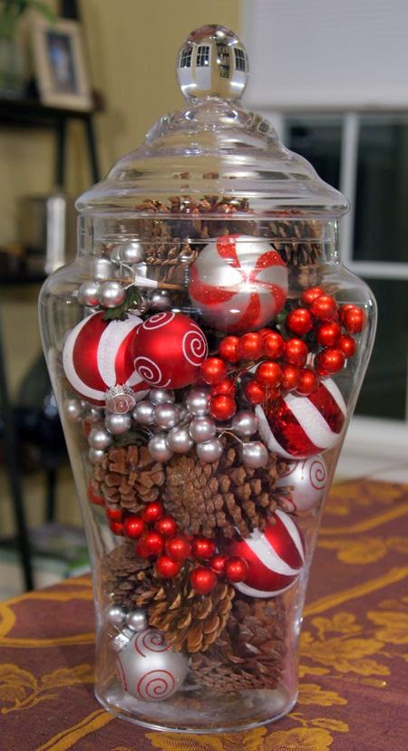 Christmas ornament centerpiece