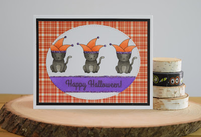 Cat Halloween Card by Jess Gerstner featuring Jess Crafts Digital Stamps