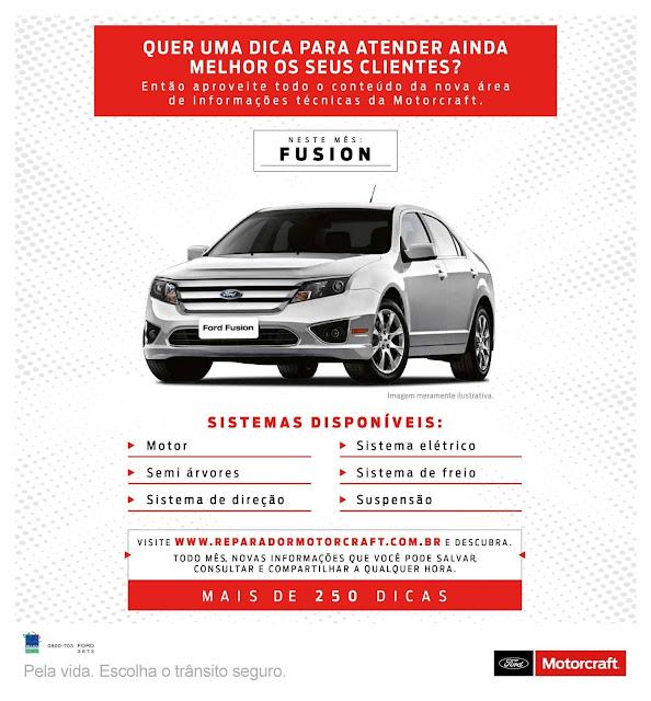 Ford Fusion 2011 e 2012 - informações para oficinas