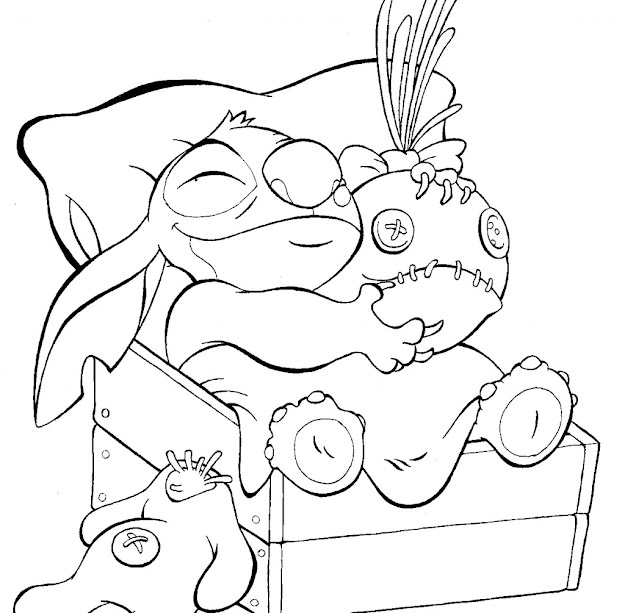Lilo And Stitch Coloring Page For Kids