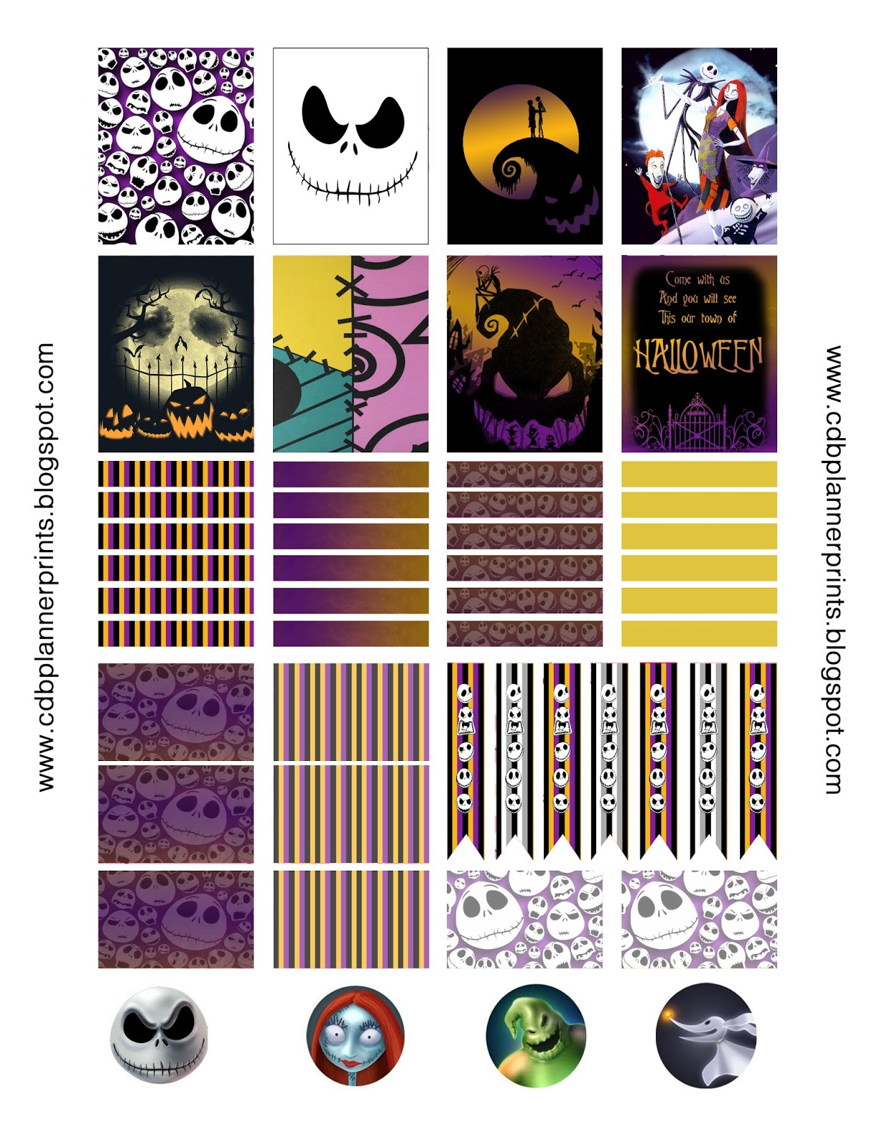 CDB Planner Prints: Nightmare Before Christmas