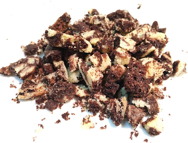 Pile of Vanilla and Chocolate Pate Sablee Crumbs