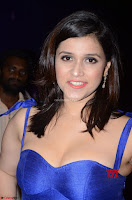 Mannara Chopra in Deep Neck Blue Gown at Zee Telugu Apsara Awards ~  Exclusive 030.jpg