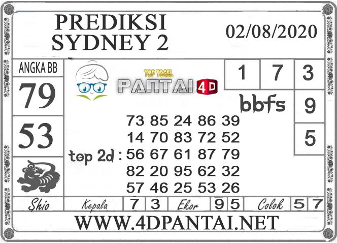 PREDIKSI TOGEL SYDNEY 2 PANTAI4D 01 AGUSTUS 2020
