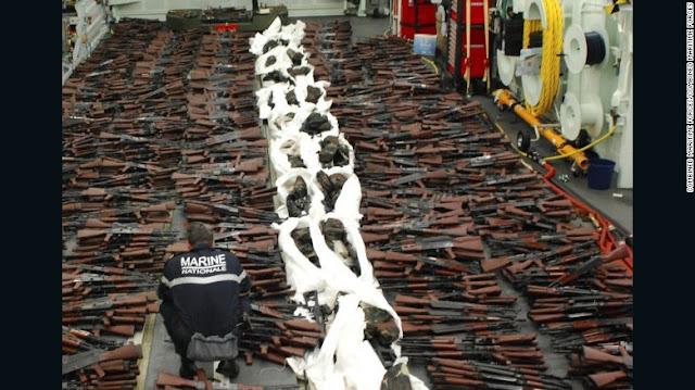 Iran Tertangkap Basah Kirimkan Amunisi Senjata Dalam Jumlah Besar ke Syiah Houthi Yaman