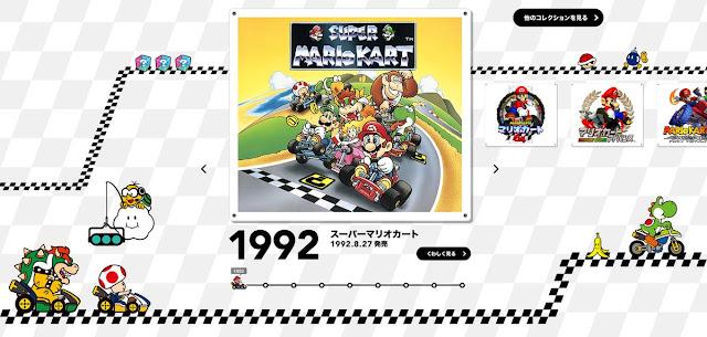Mira esta nueva web de Nintendo dedicada a la trayectoria de Mario Kart